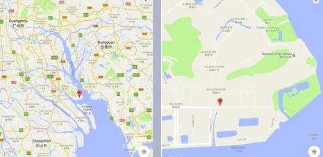 Guangzhou lab map